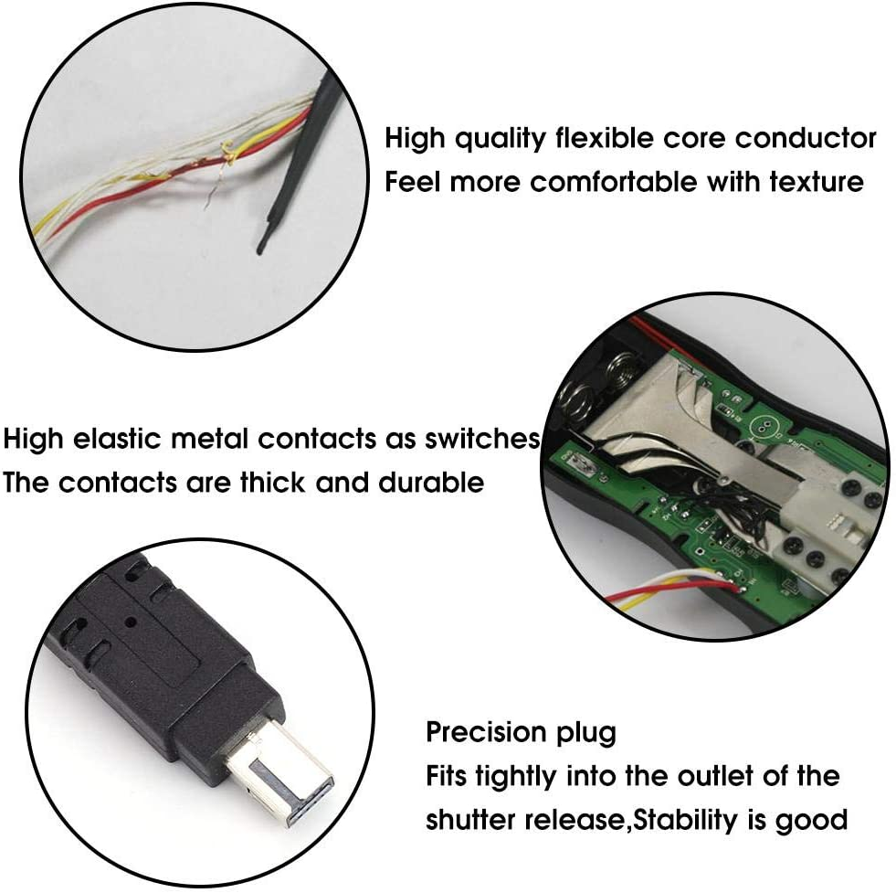 MC-DC2 Timing Shutter Cable Release Automatic Timer Remote Control for Nikon Z7//D750//D610//D7500//D7200//D7000//D5200//D5600//D3300//D3100 Vbestlife Timer Shutter Release