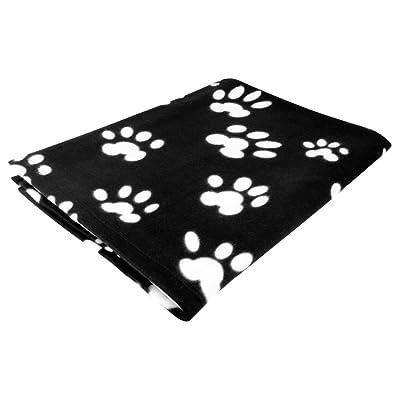 Evelots Pet/Personal Blanket-Cat/Dog Paws-Fleece-5 Foot Long-Asst.Colors