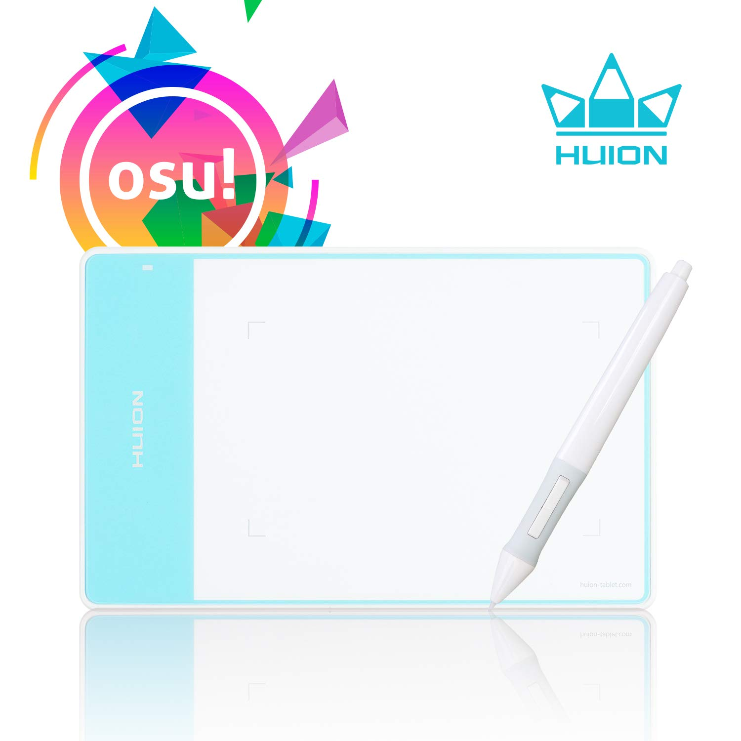 Huion 420 OSU Tablet 4 x 2 23 Inches Graphics Drawing Tablet - White