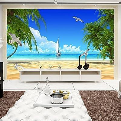 XLi-You 3D Minimalist Modern Sea-View Tv Background Wall Paper Murals Seamlessly