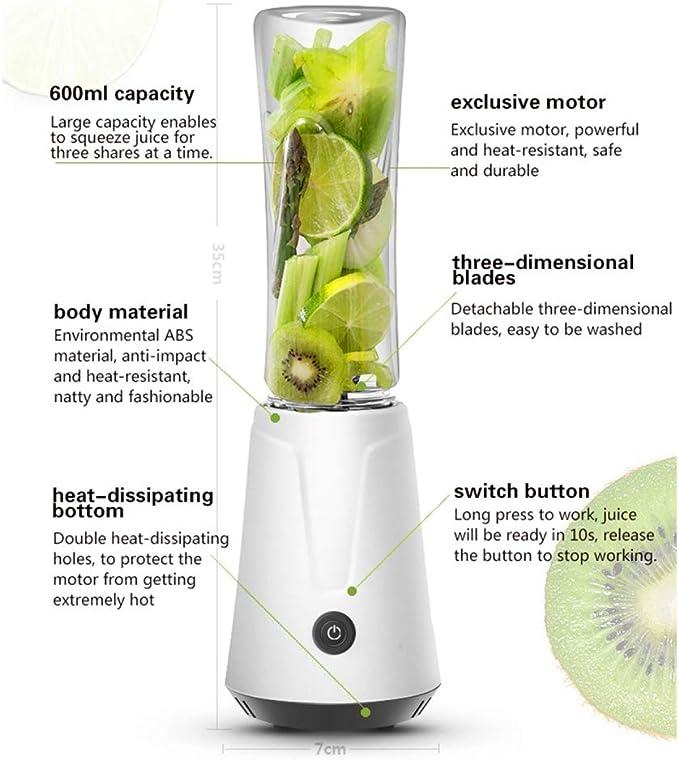 Grea 600ML Portátil Bricolaje Juicer eléctrico Licuadora Fruta ...