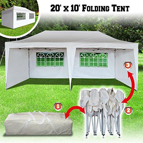 BenefitUSA Ez Pop Up Wedding Party Tent 10'X20' Folding Gaze