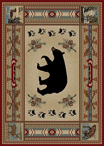Cheap Rugs of Dalton HS4882-0810 Woodlands Rug, 8′ x 10′, Bear