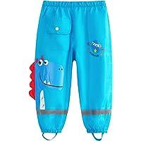 Adorel Pantalones Impermeables Reflector Bolsillo para Niño