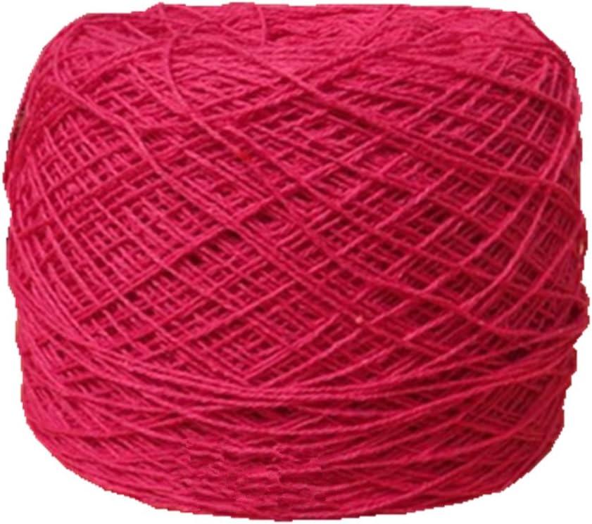 youmehome algodón Crochet hilo 1 mm 680 metros para hecho a mano ...