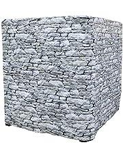 Barrel Trading IBC UV-beschermkap bedrukt steenpatroon