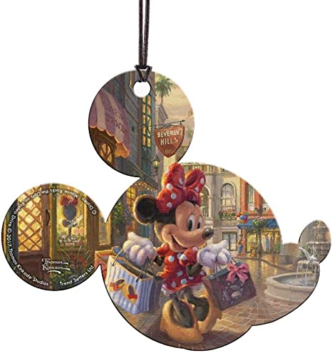 Amazon Com Trend Setters Disney Minnie Mouse Rocks The Dots On Rodeo Drive Mickey Ears Shaped Hanging Acrylic Print For Gifting And Collecting Home Kitchen
