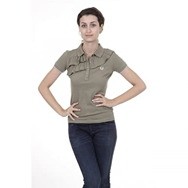 Fred Perry Womens Polo 31162244 0035 Verde: Amazon.es: Ropa y ...