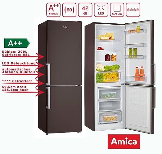 Amica KGC 15913 BR nevera y congelador Combinación marrón a + + ...