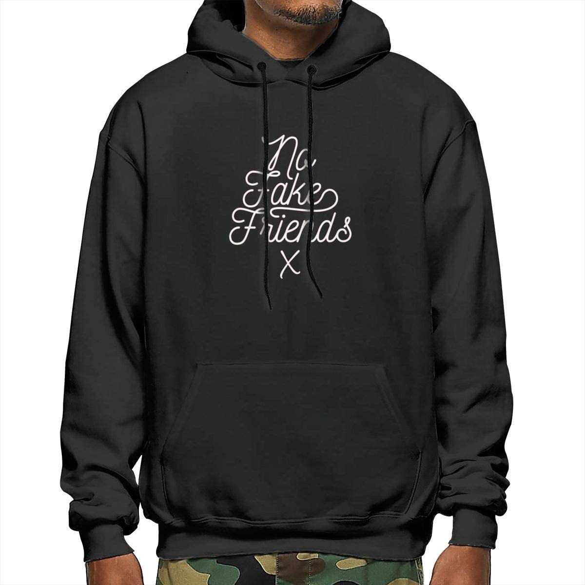 No Friend Bless Faith Fashion Jesu-s Swaeatershirt Mens Hoodie Sweater XXL Black