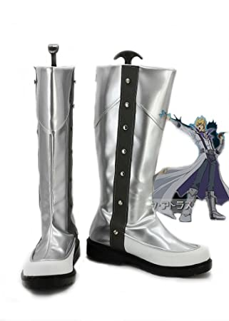 Yu-Gi-Oh! 5Ds JACK ATLAS Cosplay Shoes Silver Boots Custom Made