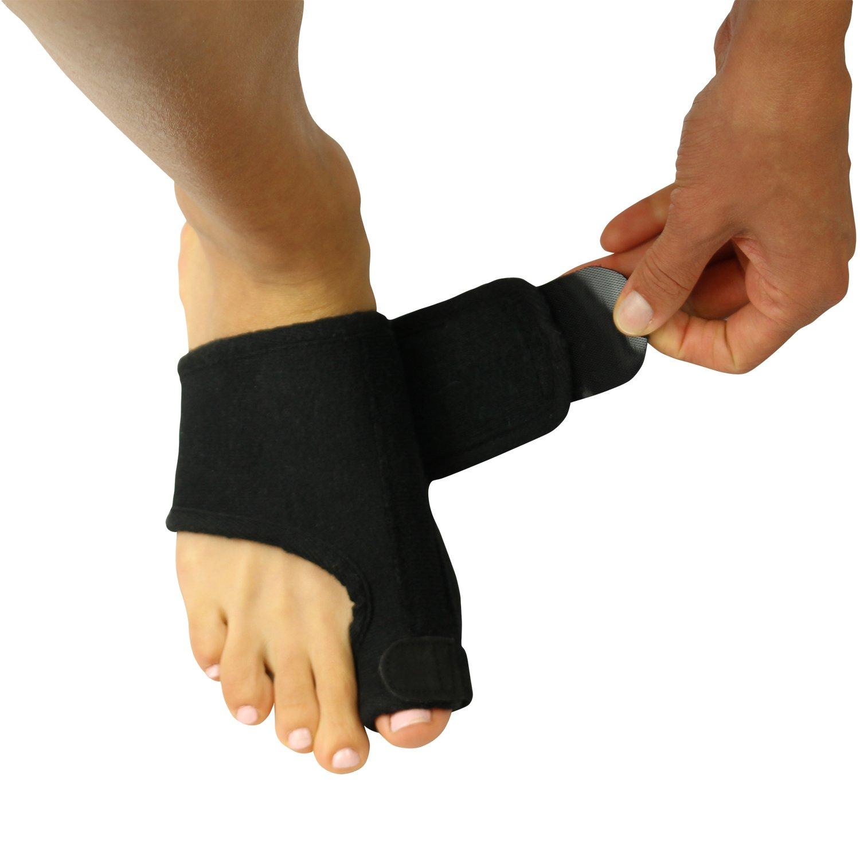 VIVE Bunion Splint [Pair] - Toe Straightener & Corrector Brace Pad for Hallux Valgus Pain Relief - Night Time Support for Men & Women (Black)