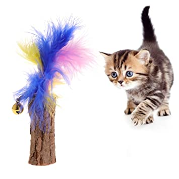 Juguete para gatos de YFairy, menta para gatos, molar, bastón, pluma ...