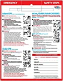 Infant & Child CPR & Choking First Aid Safety Magnet - 8.5x11 Laminated Card, Dry Erase Pen