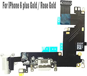 UTechZH USB Charging Port Headphone Jack Dock Connector W/Mic Flex Cable Cellular Antenna Replacement Part Compatible for iPhone 6 Plus 5.5