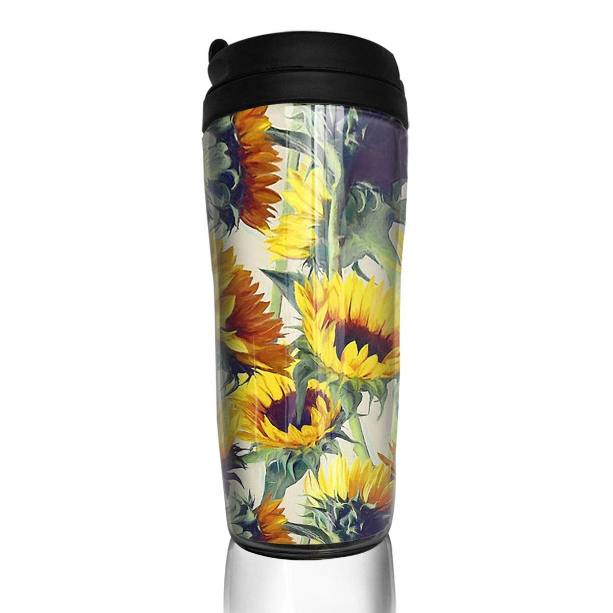 f456fa13290 Amazon.com: Wqi Home Blooming Sunflower Reusable Travel Coffee Mug Tea Cup  Water Bottle for Cold & Hot Drinks: Home & Kitchen