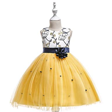 d4d222dac9cc5 Mishlee Baby Girl Party wear Yellow Color Frock Dress (2-3 Years ...