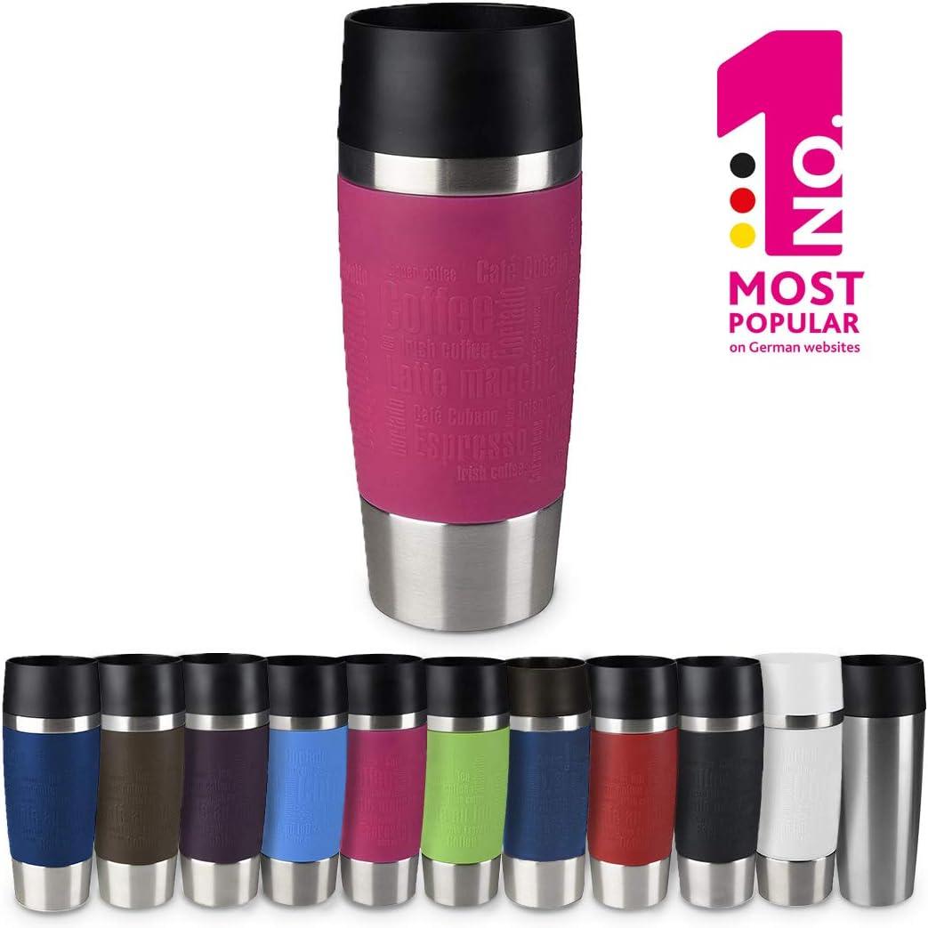 "Emsa Vacuum Mug""Travel Mug"" 12.2 fl oz In Raspberry,"