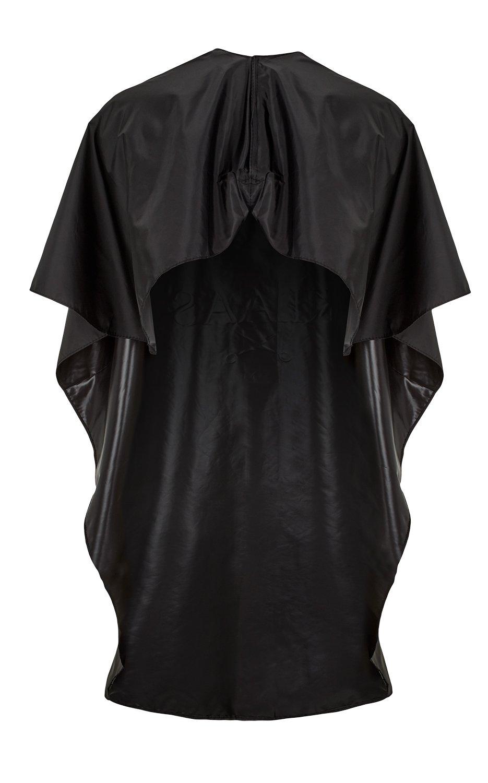 LUUK & KLAAS bata de peluquería con velcro en negro | capa de barbero | cobertor de tela para peluquería: Amazon.es: Salud y cuidado personal