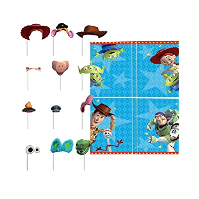 "amscan Toy Story 4"" Blue Party Scene Setters w/ Photo Props, 16 Pc., 670908: Toys & Games"