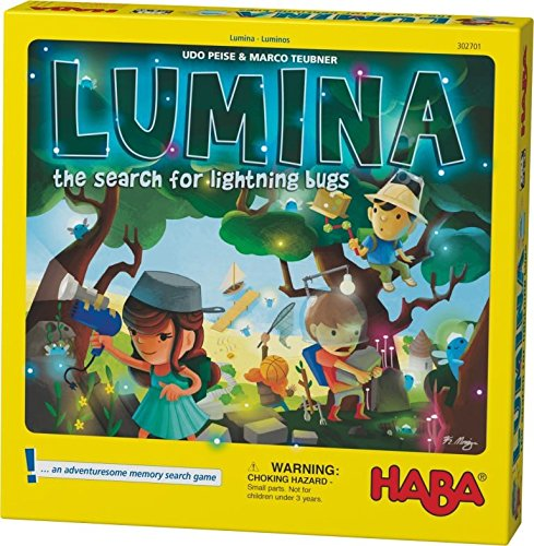 HABA Lumina - The Search for Lightning Bugs - An Adventuresome Push Your Luck Board Game for Ages 5+ (Bug Game Board)