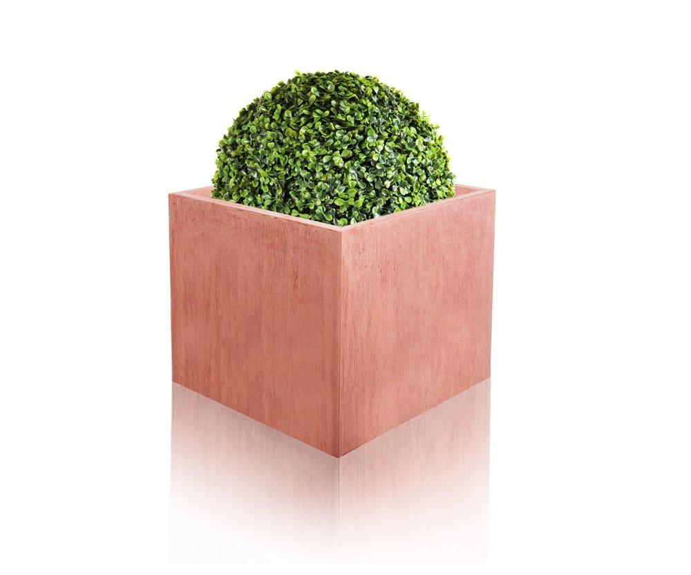 Textured Terracotta Fibrecotta Cube - Medium 30cm - 22 Litre Primrose