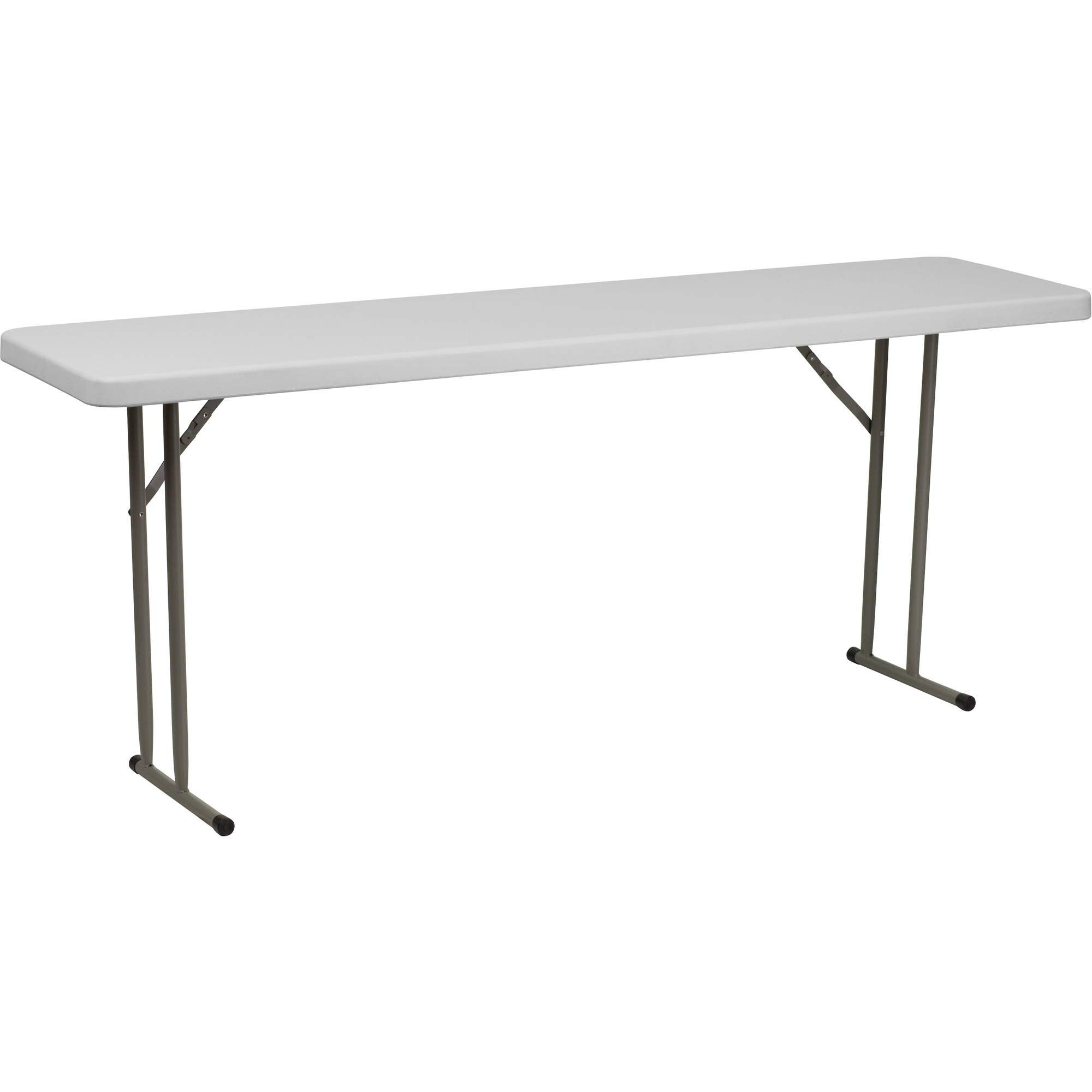 Flash Furniture Granite White Plastic Folding Training Table RB-1872-GG (4 Pack)