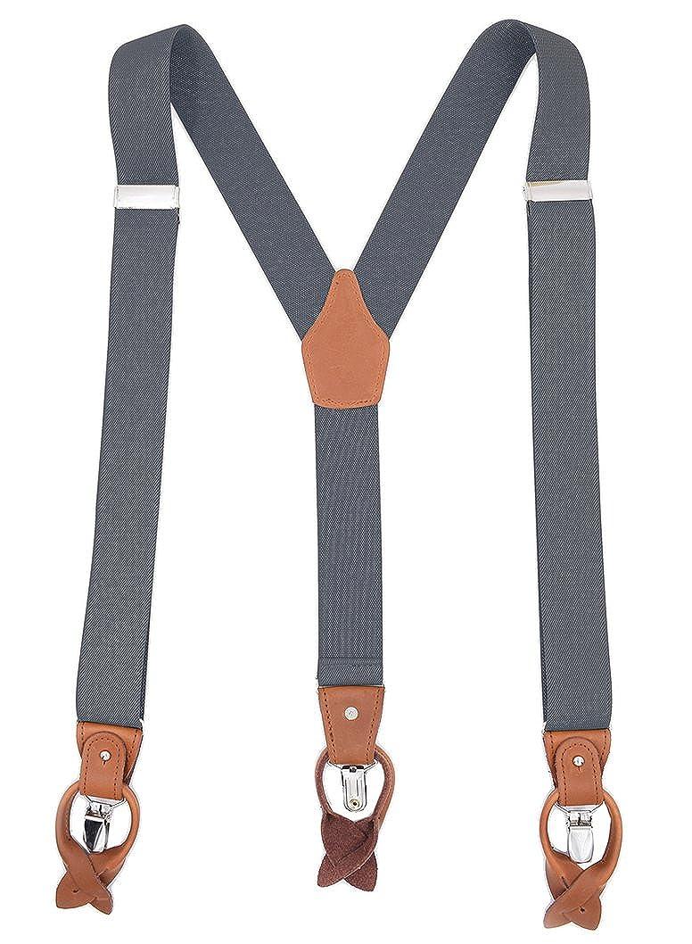 Men's Accessories 2019 Mens Suspenders Casual Fashion Braces High Quality Leather Suspenders Adjustable 6 Clip Belt Strap Durable Service Men's Suspenders