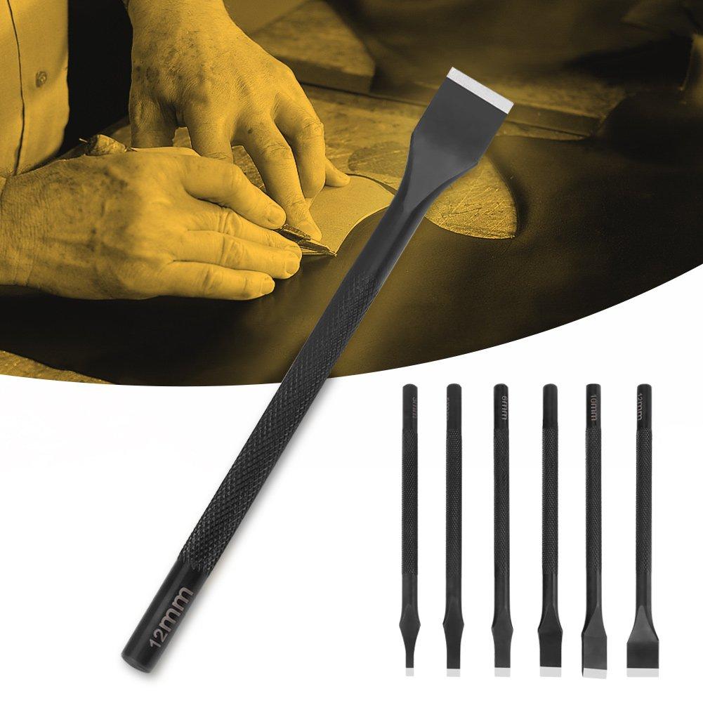 Noir fente droite Pointe plate Punch Cut Artisanat du cuir DIY Outil