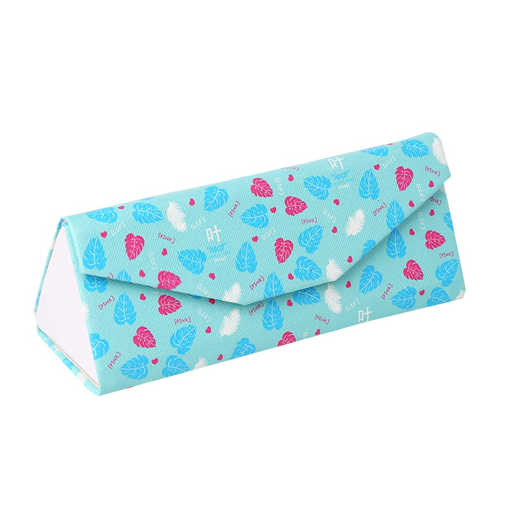 Aulley Foldable Glasses Case PU Sunglasses Box Student Portable Simple Glasses Storage Container
