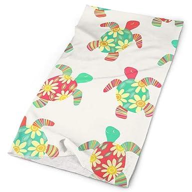 Cute Flower Child Hippy Turtles On Cream 100% Cotton ...