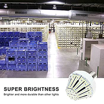Phenas 60W LED Corn Light Bulb, Large Mogul E39 Base, 6000K, 360° Street/Garden Lighting Replacement for 400W to 600W Metal Halide Bulb, HID, CFL, MH, HID, HPS(UL-Listed)
