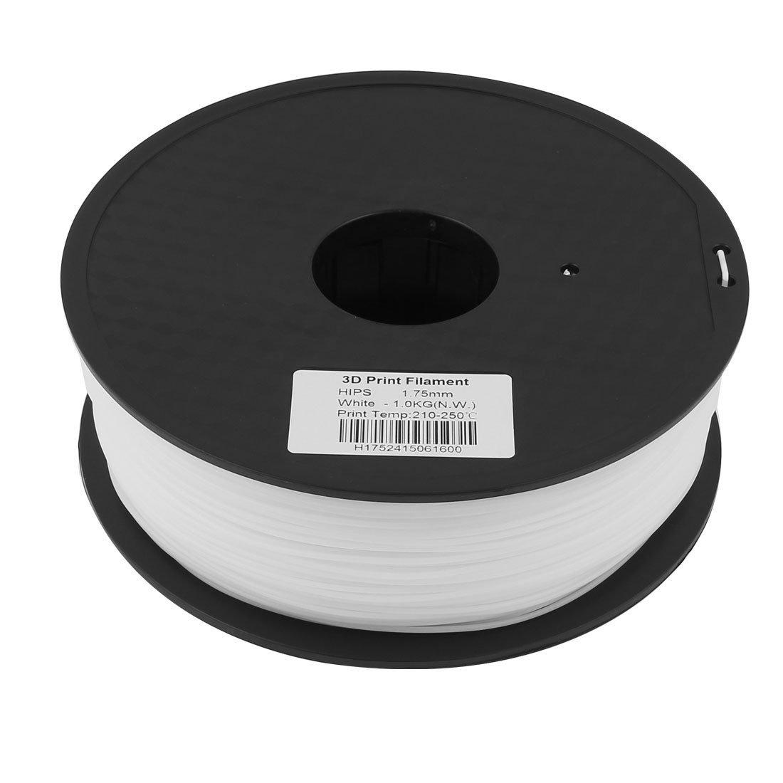 1.75mm HIPS 3D 1kg Impresora Filamento Blanca para MakerBot RepRap ...