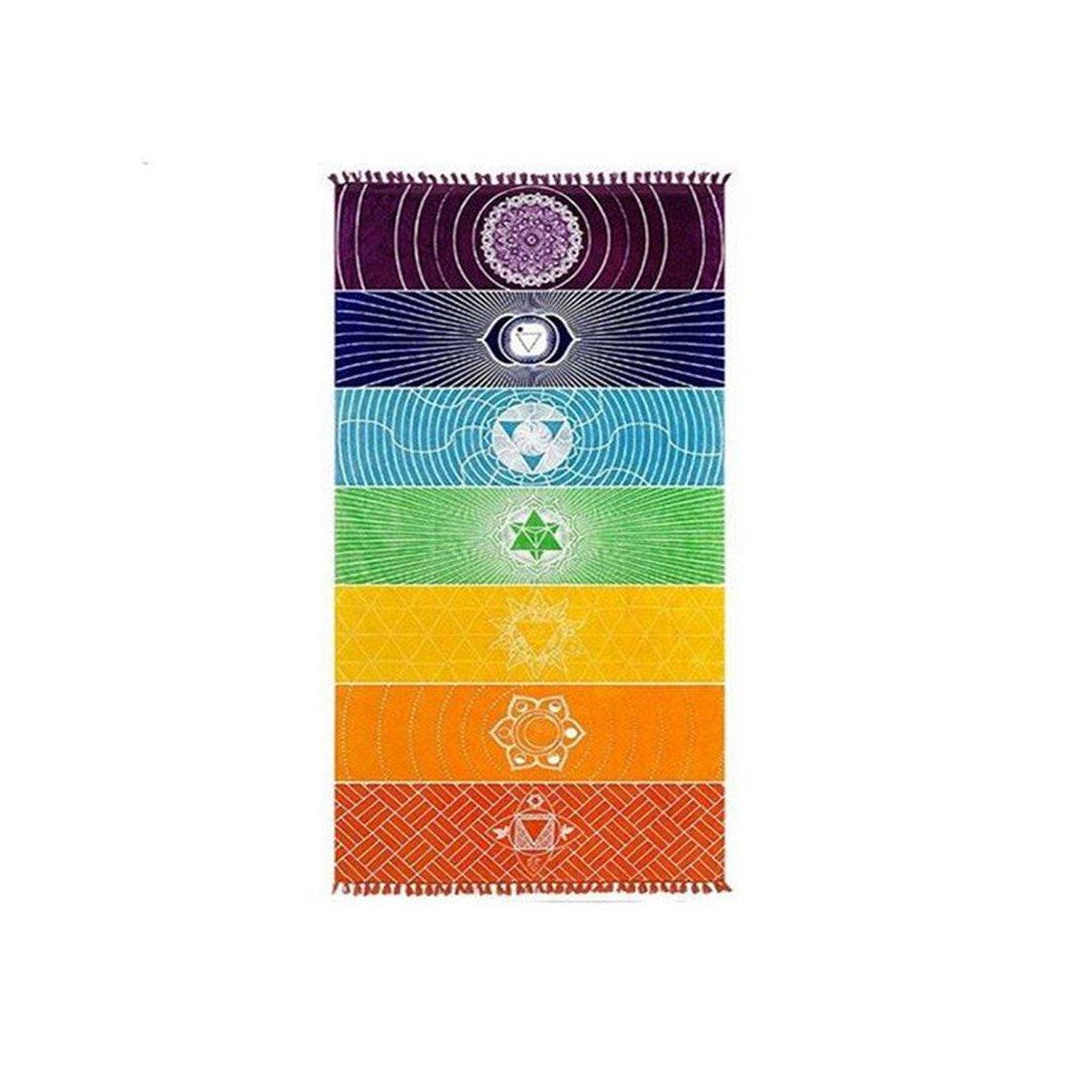 chicsoleil Rainbow Chakra - Toalla de playa, diseño de colgante de pared tapices decoración para el hogar: Amazon.es: Deportes y aire libre