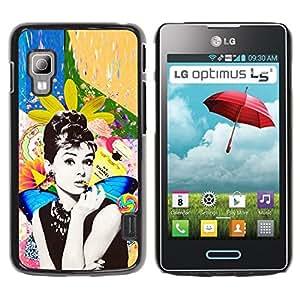 Be Good Phone Accessory // Dura Cáscara cubierta Protectora Caso Carcasa Funda de Protección para LG Optimus L5 II Dual E455 E460 // Photo Actress Star Hollywood 60'S