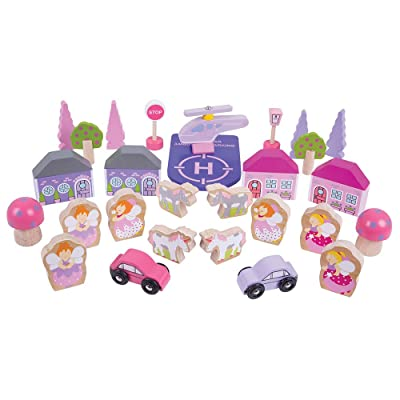Bigjigs Rail Fairy Accessory Expansion Pack - 32 Play Pieces: Toys & Games