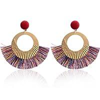 Paolian Femmes Cercle Bordées Boucles d'oreilles Boho Bijoux de mode