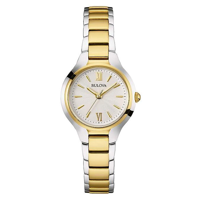 Amazon.com: Bulova Reloj de dos tonos para mujer, ninguno ...