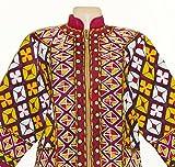 stunning uzbek fully handmade silk embroidered jacket outwear b741