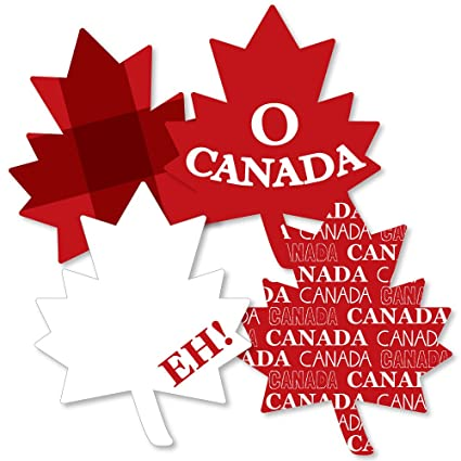 fbba71f86c9577 Amazon.com  Canada Day - Maple Leaf Decorations DIY Canadian Party  Essentials - Set of 20  Toys   Games