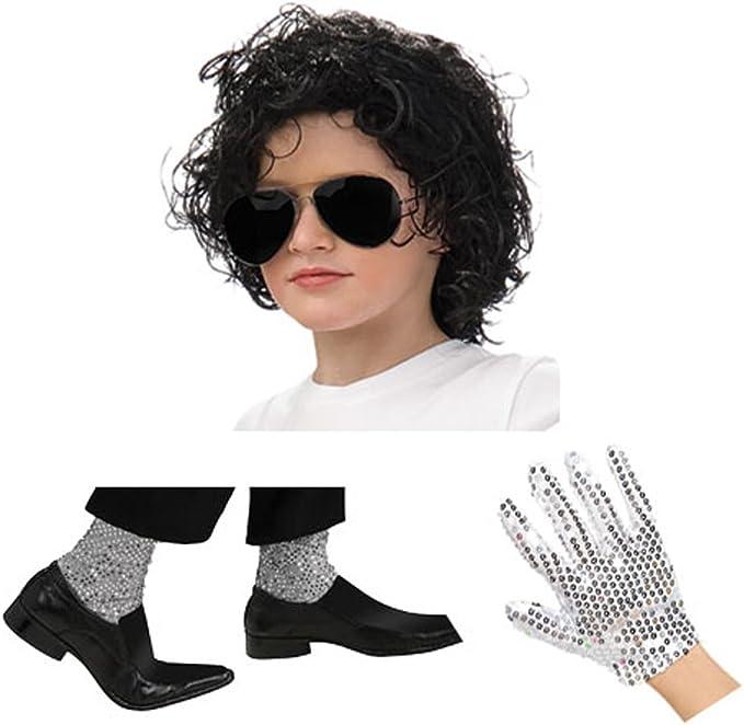 FutureMemories Michael Jackson - Juego de Vestir, Color Negro ...