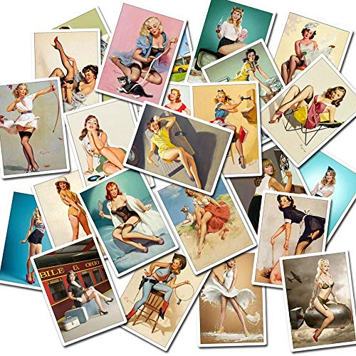 Tvoip 50Pcs/Set Sexy Beauty Girls DIY PVC Waterproof Sticker for Laptop Phone Case Skateboard Bicycl - http://coolthings.us