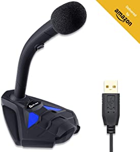 KLIM Voice V2 + Gaming Microphone USB + New 2020 + Best Sound Quality + Ideal for Gaming, Recording, Speech Recognition, Streaming, YouTube Podcast + PC Microphone Compatible Mac PS4 Mic + Blue