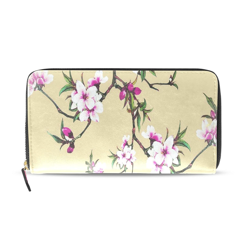 TJDY Plum Blossom PU Leather Long Wallet DIY 8.07x4.53(In)
