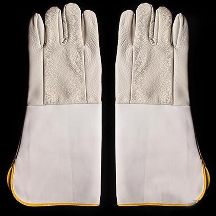Lona protectora guantes de soldadura se alargan los soldadores usan productos de protección de los guantes