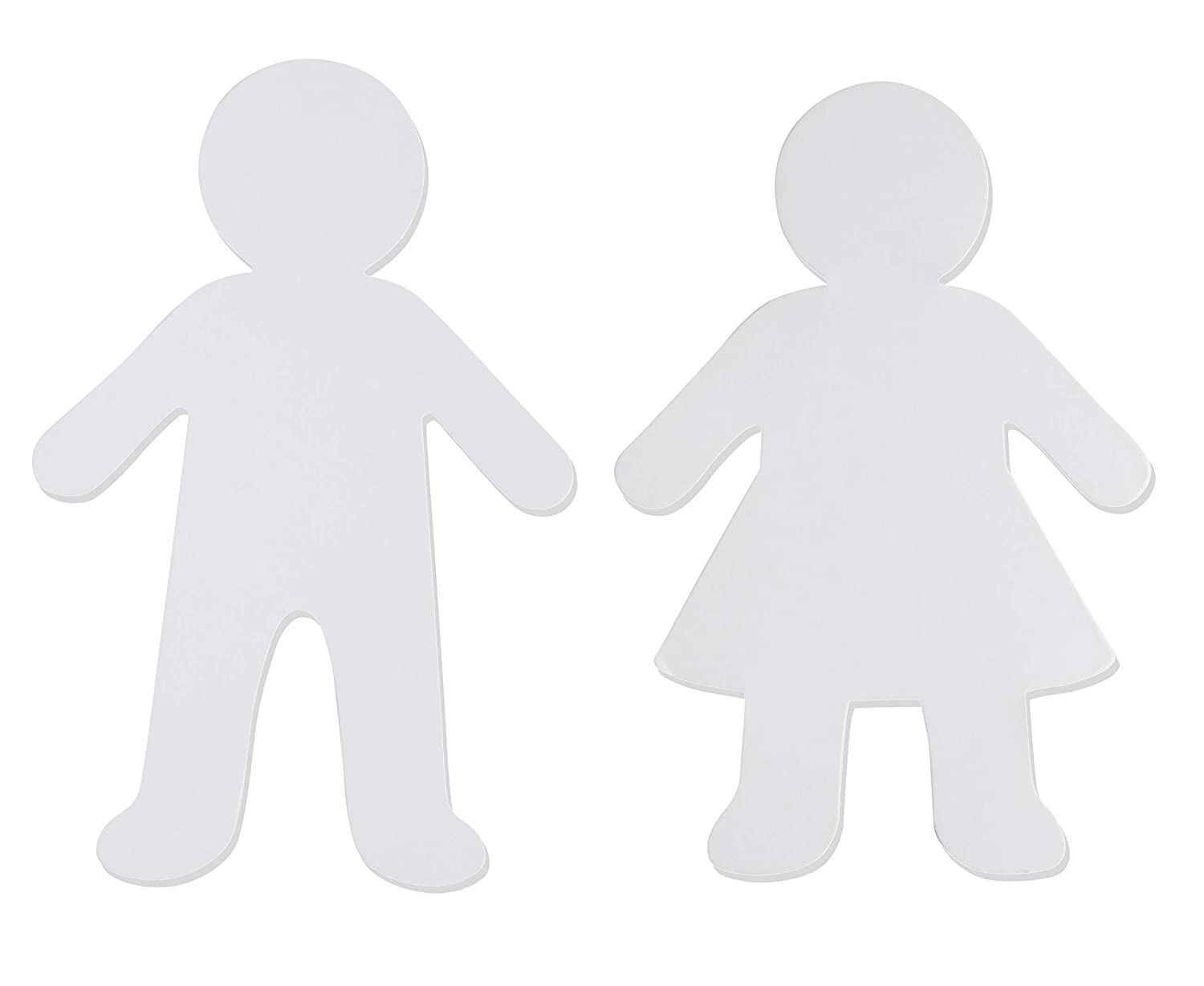 Boy and Girl Design White Kids Shaped Cutouts Paper Shapes Perfect for Art Class Projects Art and Craft Party Banner DIY Kid Shaped Papers 5.88 x 8.8 Inches Juvale 48-Pack Blank Paper Cutouts