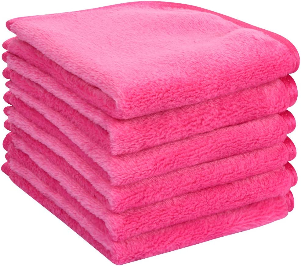 LHHA Microfiber Face Cloths for Bath Reusable Makeup Remover Cloth Ultra Soft and Absorbent Washcloths for Baby
