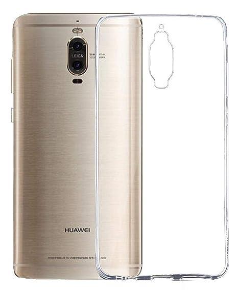 LUCKLYSTAR® Carcasa para Huawei Mate 9 Pro Slim Transparente TPU Silicona Funda Anti-Rasguño Anti-Golpes Protective Case para Huawei Mate 9 Pro(1PCS)