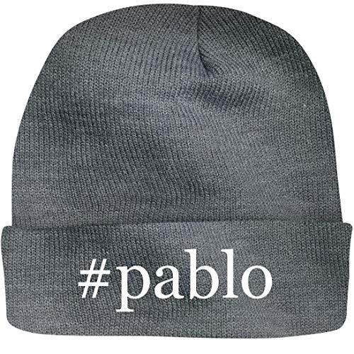 Shirt Me Up #Pablo - A Nice Hashtag Beanie Cap, Grey, OSFA