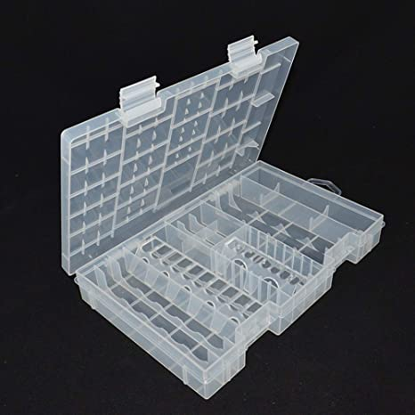check out cf7f8 cb8d0 Battery Organizer - Hard Plastic Transparent A Aaa C D 9v Battery ...